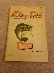 VINTAGE 1950 HEDDON FISHING TACKLE CATALOG LURES - RODS & REELS 80 pages Photos