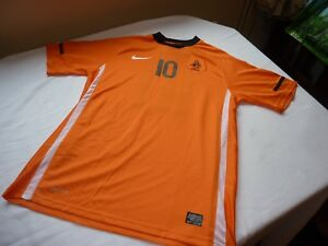 NIKE DRI-FIT XL UK 4042 NETHERLANDS SHIRT SNEIJDER 10 SOUTH AFRICA 2010 FIFA