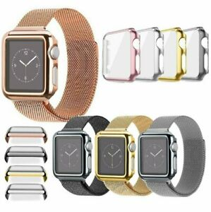 Apple Watch 3842MM  4044MM Full Body Cover Snap On Case + Screen Protector