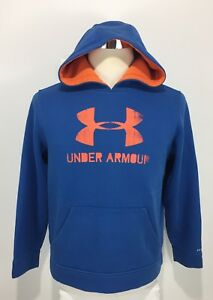Under Armour Storm Boys XL Sweatshirt Hoodie Blue Storm Loose Rare