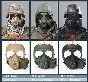 MILITAR TACTICAL AIRSOFT M88 HELMET ARGAME PROTECTION DUMMY M04 GAS MASK GREEN