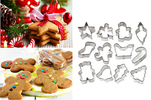 Christmas Holiday Cookie Cutters Wilton Holiday Mini Set Of 12 (2308-1250) New