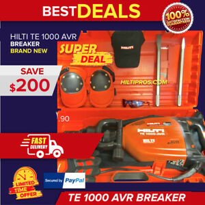 HILTI TE 1000 AVR BREAKER,BRAND NEW , HILTI HEAVY DUTY CASE , FAST SHIPPING!