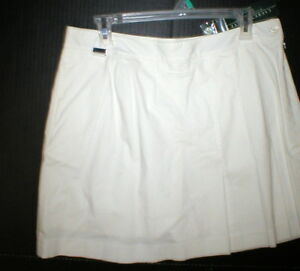 Womens New 10 NWT Ralph Lauren Active Skort Skirt White Shorts Pleated Pockets