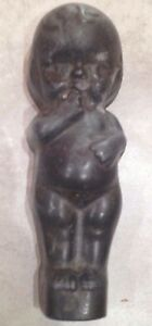 RARE ANTIQUE KEWPIE DOLL SOLID CAST IRONLEAD STATUE DOORSTOP MOLD ARCHITECTURAL