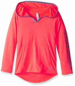 Under Armour Girls Tech Hoodie Pink ChromaAurora Purple Youth Small