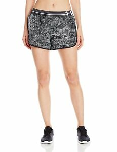 Under Armour Womens Printed Perfect Pace Short BlackReflective Medium