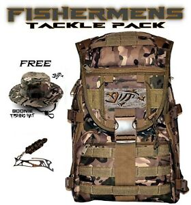 FINN TECH Fisherman Backpack Tackle Box Pack + FREE Fishing Hat