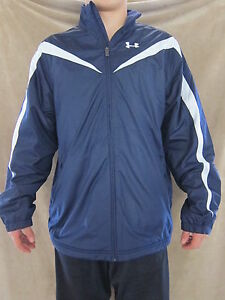 UNDER ARMOUR Training Outerwear Blue Fleece Lined Coat Jacket Shirt  XLARGE NWT