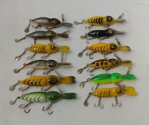 (12) Vintage Whopper Stopper Hellbenders Collectible Fishing Lures Lot of 12