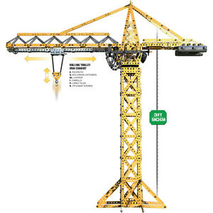 Huge Set Crane For construction Real Model Moves In Every Direction Kid Gift TOY