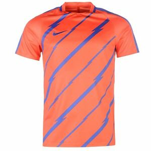 Nike GX Dry-Fit Squad Training T-Shirt Mens Orange Football Soccer Top Tee Shirt