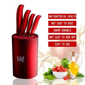fashion holder for ceramic knife 6 inch red multifunctional kitchen knife stand