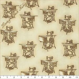ROBERT KAUFMAN quot;SEWING WITH SINGERquot; 15644 271 MACHINES FABRIC SELECT SIZE $6.99