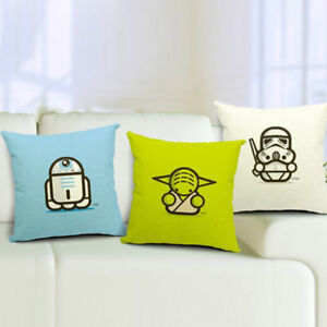 Star Wars Decorative Linen Throw Pillow Cushion Cover Square 18 x 18 in