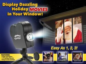 Window Wonderland Window Projector System 6 Christmas 6 Halloween Movies.