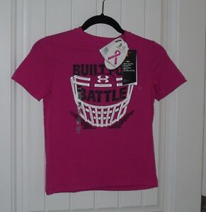 NWT Boys Under Armour Power In Pink Breast Cancer