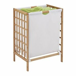 Bamboo Laundry Hamper with Natural Liner 16 in Wide * 13 in Deep * 25 in High