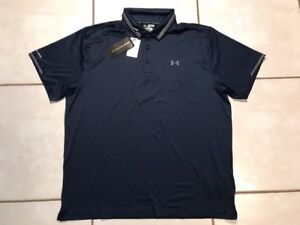 NWT UNDER ARMOUR COLDBLACK BLUE Golf Polo Shirt Men's 3XL
