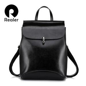 Women's Vintage Fashion Leather Backpack