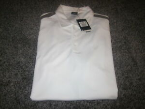 MEN'S NWT NIKE GOLF FIT DRY SHORT SLEEVE POLO SHIRT in SIZE 3XL WHITE *NEW*