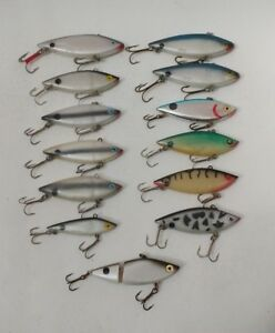 (13) Vintage Cotton Cordell Spot  Lipless Crankbait Fishing Lures Lot of 13