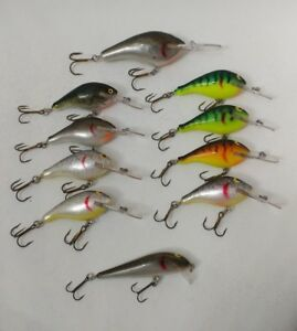 (10) Vintage Wooden Lee Sisson Hand Crafted Crankbait Fishing Lures Lot of 10