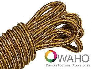 Heavy Duty Brown/Gold Shoe / Boot Laces made with Natural Dupont™ Kevlar