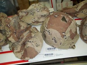 TEN 'Chocolate Chip' Helmet Covers 6-COLOR for US ARMY KEVLAR Desert Storm