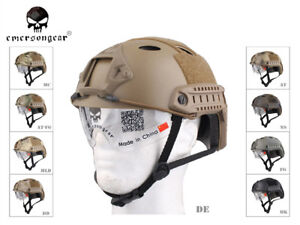 Airsoft Tactical Emerson FAST Helmet with Protective Goggle PJ EM8819