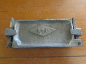 Flat Bank Sinker Size Mold Fishing Tackle Lead Weight 14 12 58 34 1oz H-I 9A