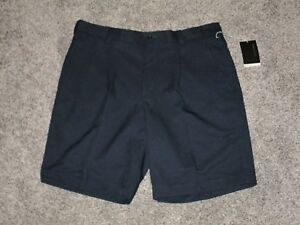 Nike Golf Fit-Dry Men's Pleated Shorts Navy Blue Size 38 NWT