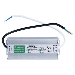 12V 100W Waterproof Electronic LED Driver Transformer Power Supply New Version