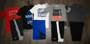 NWT Lot 9 Boys UNDER ARMOUR NIKE Dri-Fit Loose Shirts Athletic Shorts YSM Small
