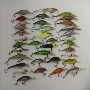 (36) Bomber Crankbaits Used Beater Painter Fishing Lures Lot of 36