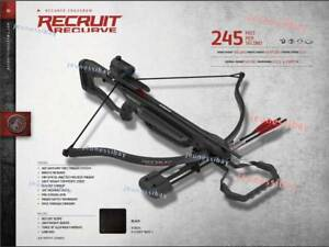 Barnett Recruit Recurve Crossbow For Hunting Target With 3 Arrows Red Dot Scope