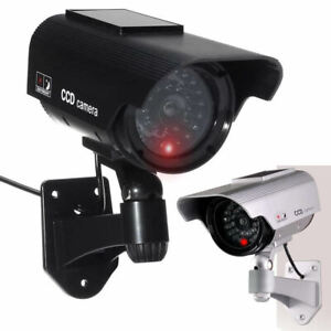 JUSTOP Solar Powered Dummy Security Camera CCTV Surveillance Cam Fake IR LED UK