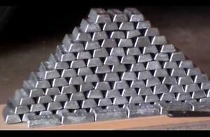35 pounds of one pound lead ingots for bullet casting or fishing weights