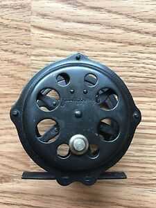Vintage JC HIGGINS Fly Reel Single Action Skeleton Type  3133 Japan