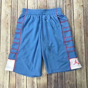 Nike Youth Boys Kids Medium Dry-Fit Blue Pink Basketball Gym Shorts 953148 G13