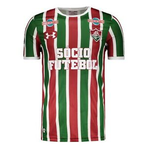 Fluminense Home All Sponsors Soccer Football Jersey Shirt - 2017 Under Armour