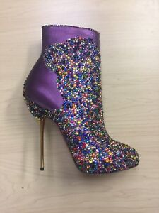 Christian Louboutin FASTISSIMA Rainbow Strass Multicolor Size 37; 25% to Charity