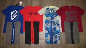 Lot 8 Boy's UNDER ARMOUR Camo Loose Football Shirts Athletic Shorts YLG Large