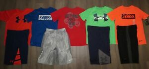 Lot 9 Boy UNDER ARMOUR NIKE Dri-Fit Loose Shirts Athletic Shorts YLG Large 1416