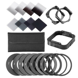 Square Neutral Density ND 2 4 8 16 Filter Kit for Cokin P HolderAdapter Rings $17.99