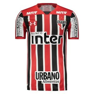 Sao Paulo w Sponsors Away Soccer Football Jersey Shirt 2017 Under Armour Brazil