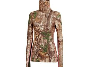 NEW!! Under Armour Women's ColdGear Shirt Long Sleeve Realtree Xtra Camo Sz M