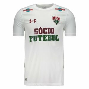 Fluminense Away w Sponsors Soccer Football Jersey Shirt 2017 Under Armour Brazil