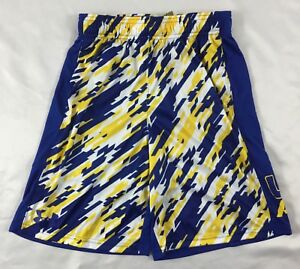 Under Armour BOY'S All Season Gear Shorts Blue Yellow Print 1299998 YOUTH Size L