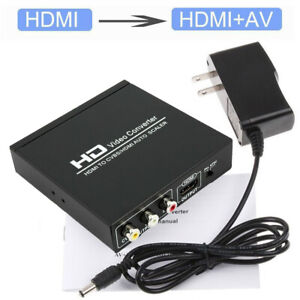 HDMI to HDMI and AV RCA CVBS Composite Out Video Audio Converter Scaler Adapter